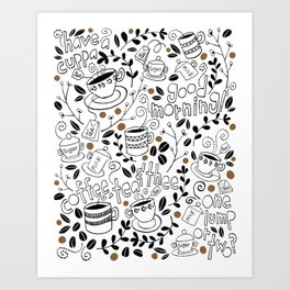 Coffee, Tea & Thee Art Print