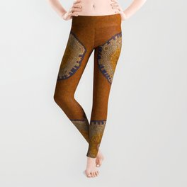 Growing - ginkgo - plant cell embroidery Leggings