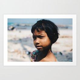 Day 61 - Ngapali, Burma Art Print