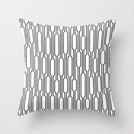 Spells - Geometric Lines Pattern (Black) Throw Pillow