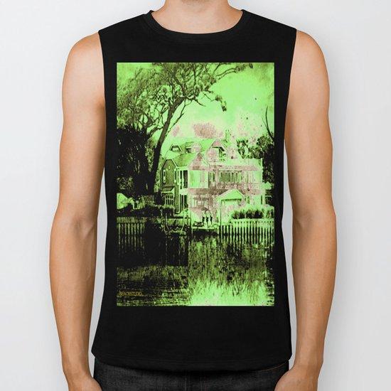 Green Spooky Boathouse Biker Tank