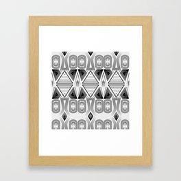 """Art Deco. """"Black and light gray"""" 28 . Framed Art Print"""