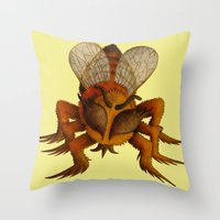 bee Throw Pillows featuring bee by giol's