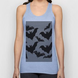 HALLOWEEN BATS ON CHARCOAL GREY WILDLIFE ART Unisex Tank Top