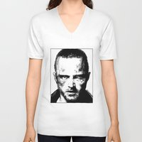 jesse pinkman V-neck T-shirts featuring Breaking Bad - Jesse Pinkman by Aaron Campbell