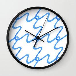 blue maze Wall Clock