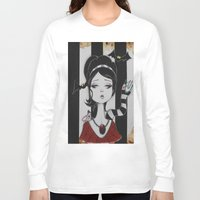 lydia martin Long Sleeve T-shirts featuring Lydia by Art of Lety Reyes