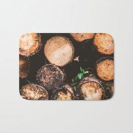 Rustic Firewood Bath Mat