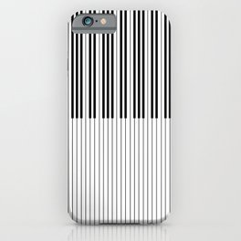 The Piano Black and White Keyboard Stripes with Vertical Stripes iPhone Case