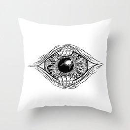 Eye Opening Throw Pillow