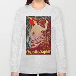 Vintage 1910 Cigarette Ad - Genie Long Sleeve T-shirt