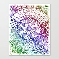 zen Canvas Prints featuring Zen by Alohalani