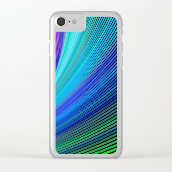 Surfing in a magic wave Clear iPhone Case