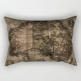 Vintage Map of Australia Rectangular Pillow