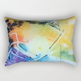 Harmony colourful  abstract artwork Rectangular Pillow