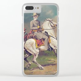 General Robert E. Lee on Horseback Clear iPhone Case