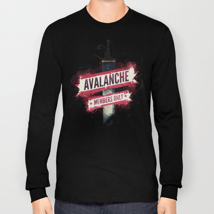Final Fantasy VII - Avalanche Member's Only Long Sleeve T-shirt