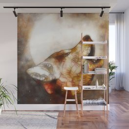 abstract howling wolf Wall Mural