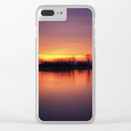Riverside Sunset Clear iPhone Case