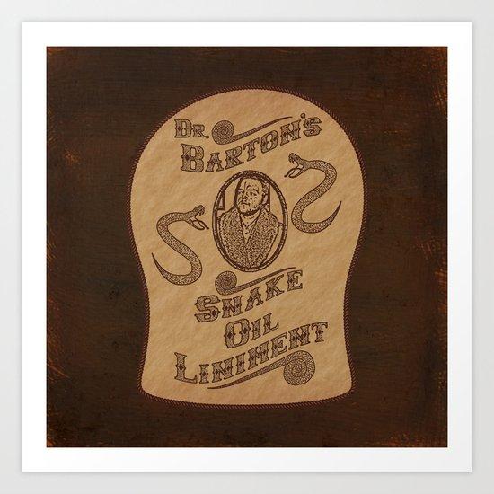 Dr. Barton's Snake Oil Liniment Art Print