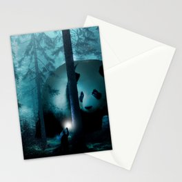 Giant Panda in a Forest Stationery Cards