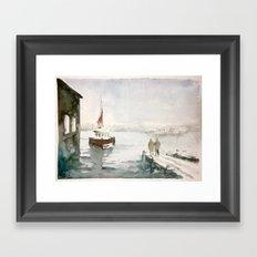 Fishing in Istanbul Framed Art Print