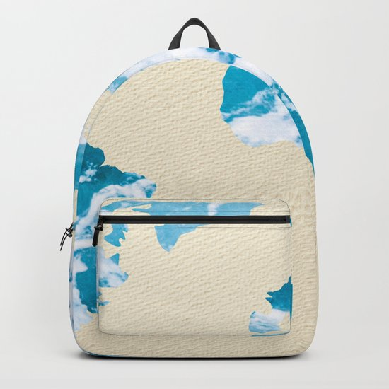 Ocean World Map Sea and Sand Backpack