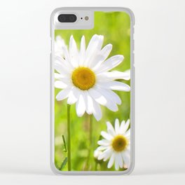 Daisy Meadow Clear iPhone Case