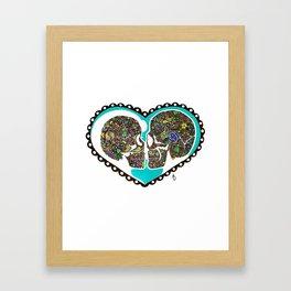 Eternal Love Color Inversion Framed Art Print