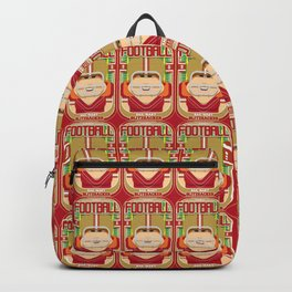 American Football Red and Gold - Hail-Mary Blitzsacker - Jacqui version Backpack