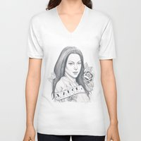 alex vause V-neck T-shirts featuring Alex Vause by Melina Espinoza