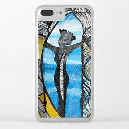 Seaside Beauty Queen Clear iPhone Case