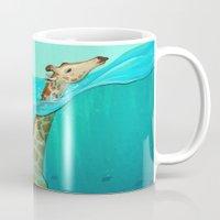 breathe Mugs featuring Breathe by Tim Kaminski