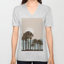 Summer Palm Trees II Unisex V-Neck