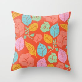 Floral Lettuce Throw Pillow