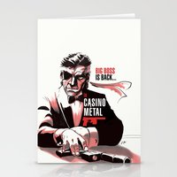 metal gear Stationery Cards featuring METAL GEAR: Casino Metal by JoPruDuction Art