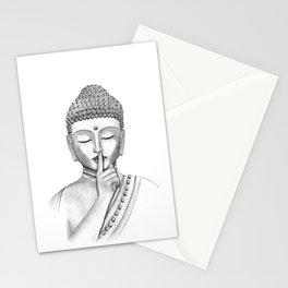 Shh... Do not disturb - Buddha Stationery Cards