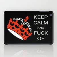 keep calm iPad Cases featuring keep calm by laika in cosmos