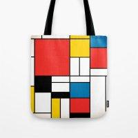 mondrian Tote Bags featuring Mondrian  by Studio 401