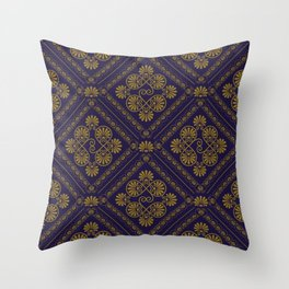 seamless pattern in eastern style Throw Pillow