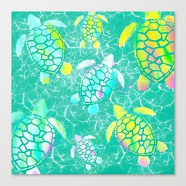 Turtle Paradise Canvas Print