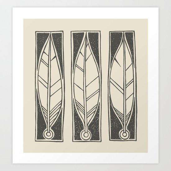 Ethnic Feathers Art Print