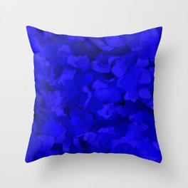 Rich Cobalt Blue Abstract Throw Pillow