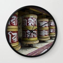 Prayer Wheels Wall Clock