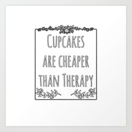 Cupcake Therapy Muffin Sprinkles Topping Sweet Cake Art Print