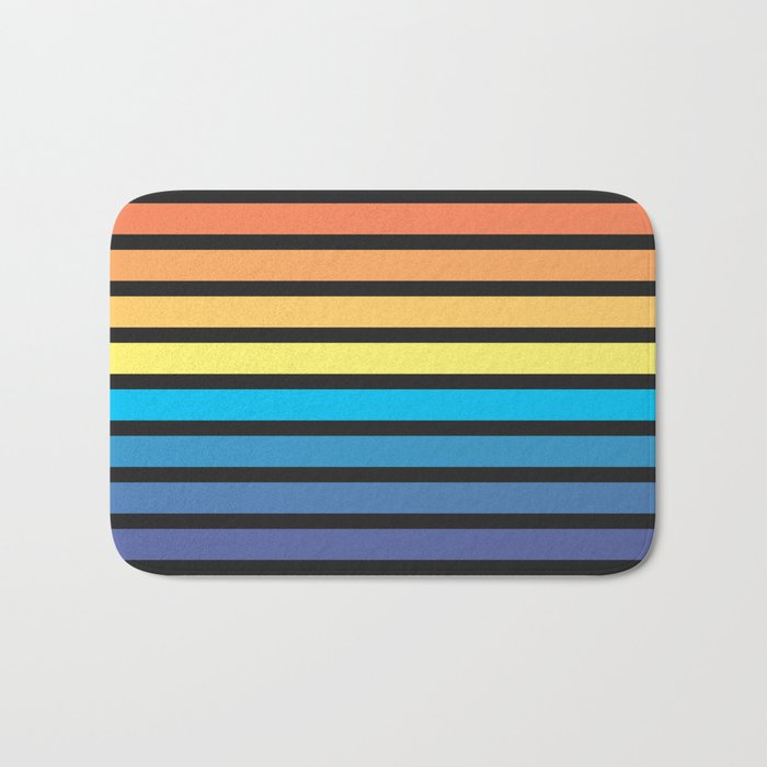 Stripe Sunset Bath Mat