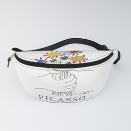 Picasso Exhibition - Mains Aus Fleurs (Hands with Flowers) 1958 Artwork Fanny Pack