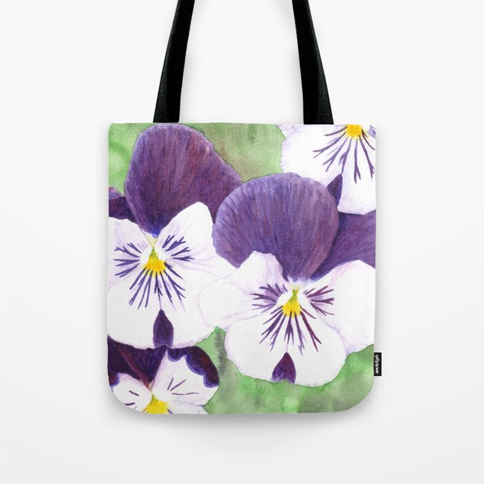Pansies flowers Tote Bag