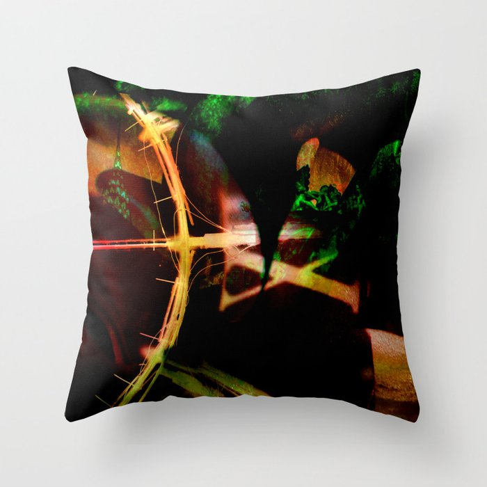 Arc of Time Throw Pillow