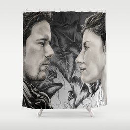 Jamie and Claire Shower Curtain